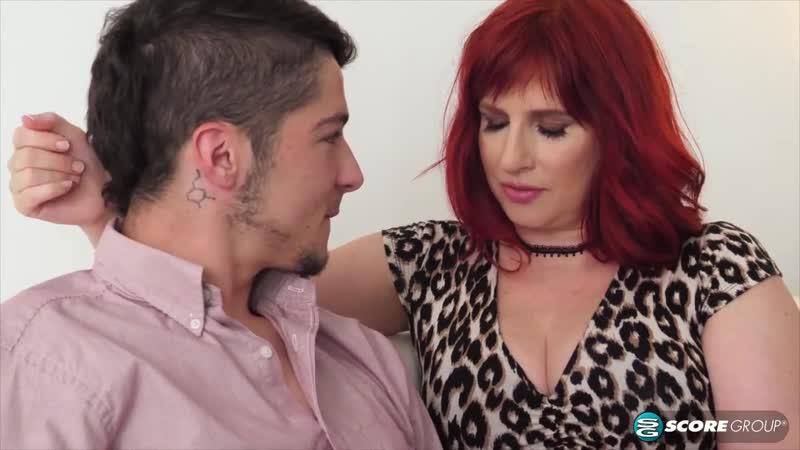 Зрелая возбуждённая мама трахнула молодого, sex redhead milf mom mature old young boy ass tit porn fuck bang cum (Hot&Horny)