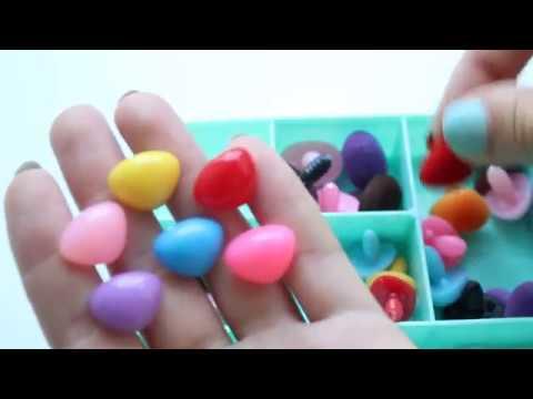 Большая Коробка - Глазки для игрушек, носики, реснички