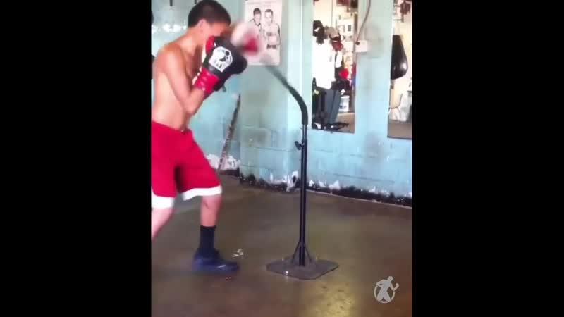 Тренировка юного Верджила Ортиса