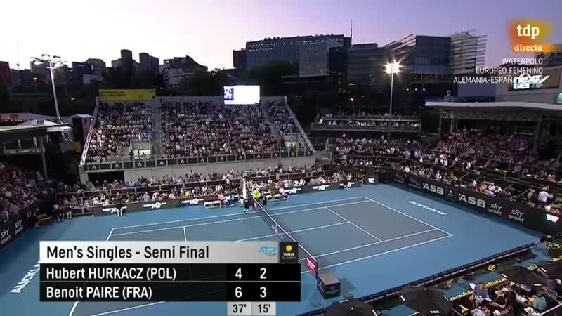 Tenis - ATP 250 Torneo Auckland 2 Semifinal H Hurkacz - B Paire - RTVEes