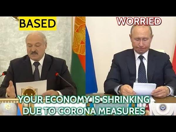 Lukashenko Teases Putin Prolonged Quarantine And Self Isolation Didn't Help Superpowers Like Russia