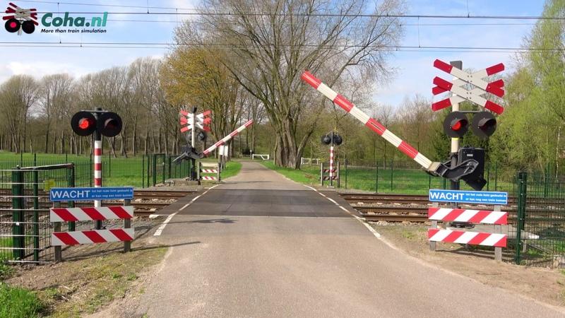 Spoorwegovergang Esch NB 😍4K😍 Dutch railroad crossing