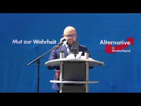AfD Demo. Von der AfD geht keine Gefahr aus, aber von den LINKEN. Markus Frohnmeier, AfD 24.5.20