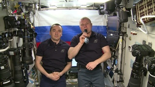 Обращение экипажа МКС к олимпийской сборной России