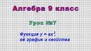 Алгебра 9 класс Урок№7 Функция y ax2 её график и свойства