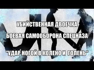 """Убийственная двоечка """"Удар ногой в колено и голень"""" Вадим Старов Боевая Самооборона Спецназа."""