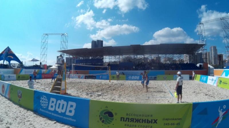Beach volley Russia Kazan 2018 M 12 Bogatov Rakusov and Bolgov Ermilov