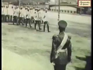 1912 год. Николай II принимает парад войск в Москве в честь открытия памятника Александру III