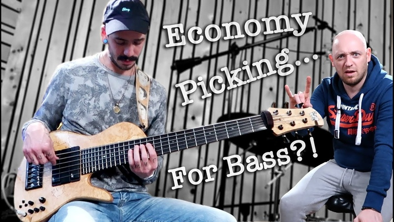 How to play BLAZING FAST BASS FILLS economy picking