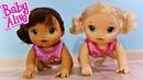 Куклы Пупсики Беби Элайв ползают Челлендж - кто быстрее Устроили Соревнование Игрушки Зырики ТВ