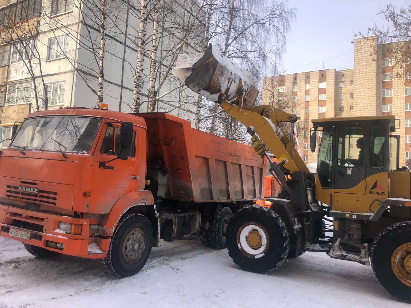 Проспект Строителей дом 36 вывоз снега