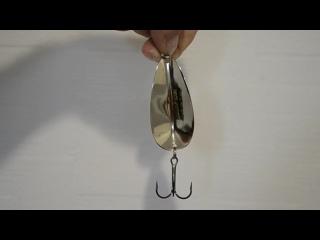 Видео контур колеблющаяся блесна Колебалка-Питер Большой Норич