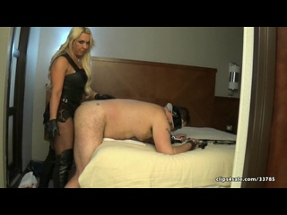 Goddess Samantha - Hotel Whore Reality Ass Plowing [Leather Femdom Mistress Anal БДСМ Strapon Latex Фемдом BDSM Bondage Госпожа]