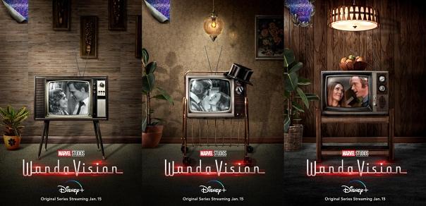 Три постера сериала «ВандаВижн» связаны