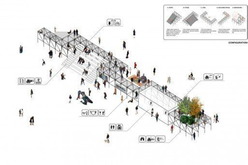 """""""Urban Platform"""" Wins First in Lisbon Open Room Competition"""