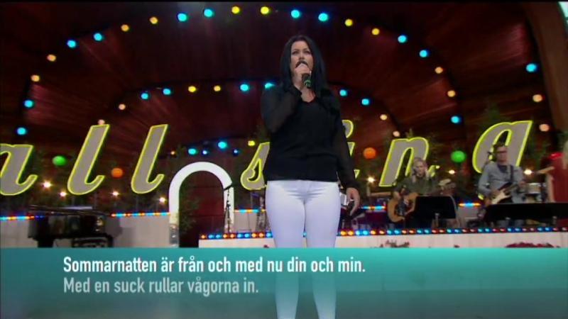 Alexandra Döhle Sanna Nielsen and the audience Ta Mig Till Havet Allsång På Skansen