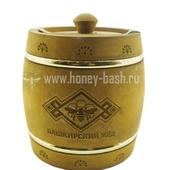 Мед «Бочонок деревянный морилка » (обруч) 0,3 кг