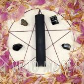 Черная ритуальная магическая свеча