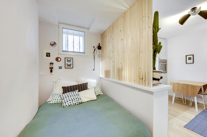 Маленькая квартира-студия 19 м в Париже.