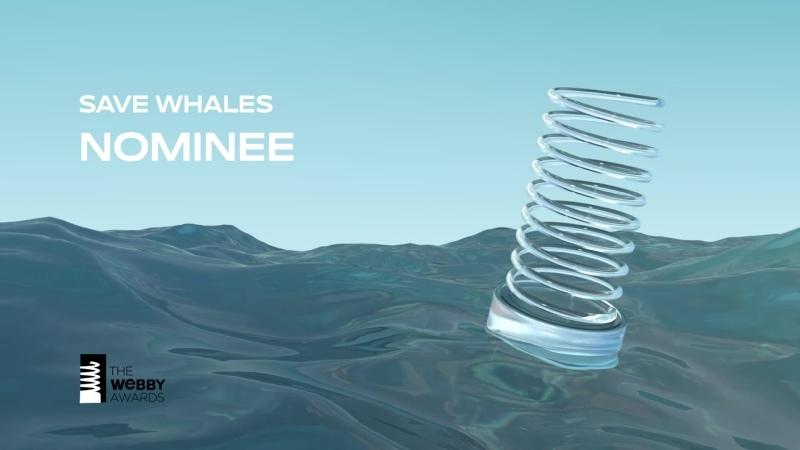 Спасти китов номинирован на Webby Оскар интернета