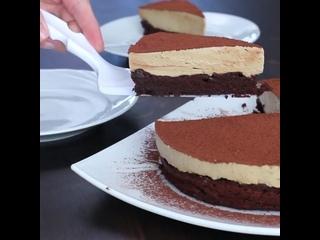 Шоколадный торт без муки с кофейным муссом (Ингредиенты под видео)   Больше рецептов в группе Десертомания