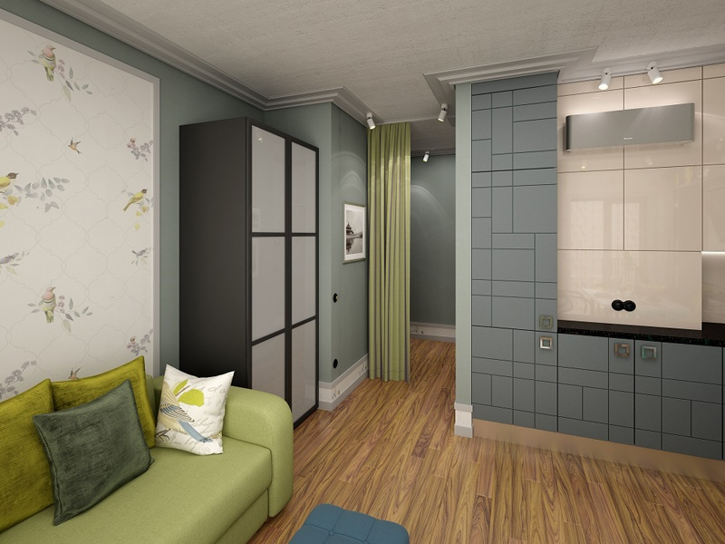 Проект студии 29,3 м в ЖК Кварталы 21/19 от московского девелопера ВекторСтройФинанс.