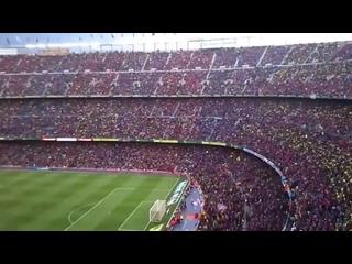 Есть и будем   100 тысяч фанатов поют гимн Барселоны ( 480 X 854 ).mp4