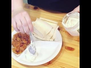 """Веган фахита с гороховым соусом """"Тартар"""", рецепт от @istoria1kuhni"""