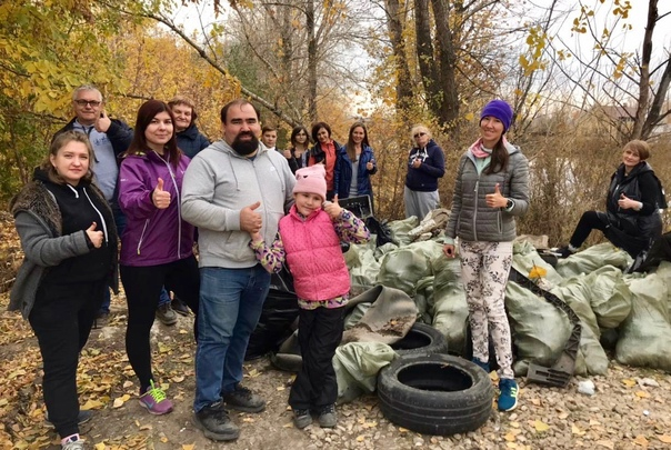 Самарские волонтёры очистили от мусора берег озера...