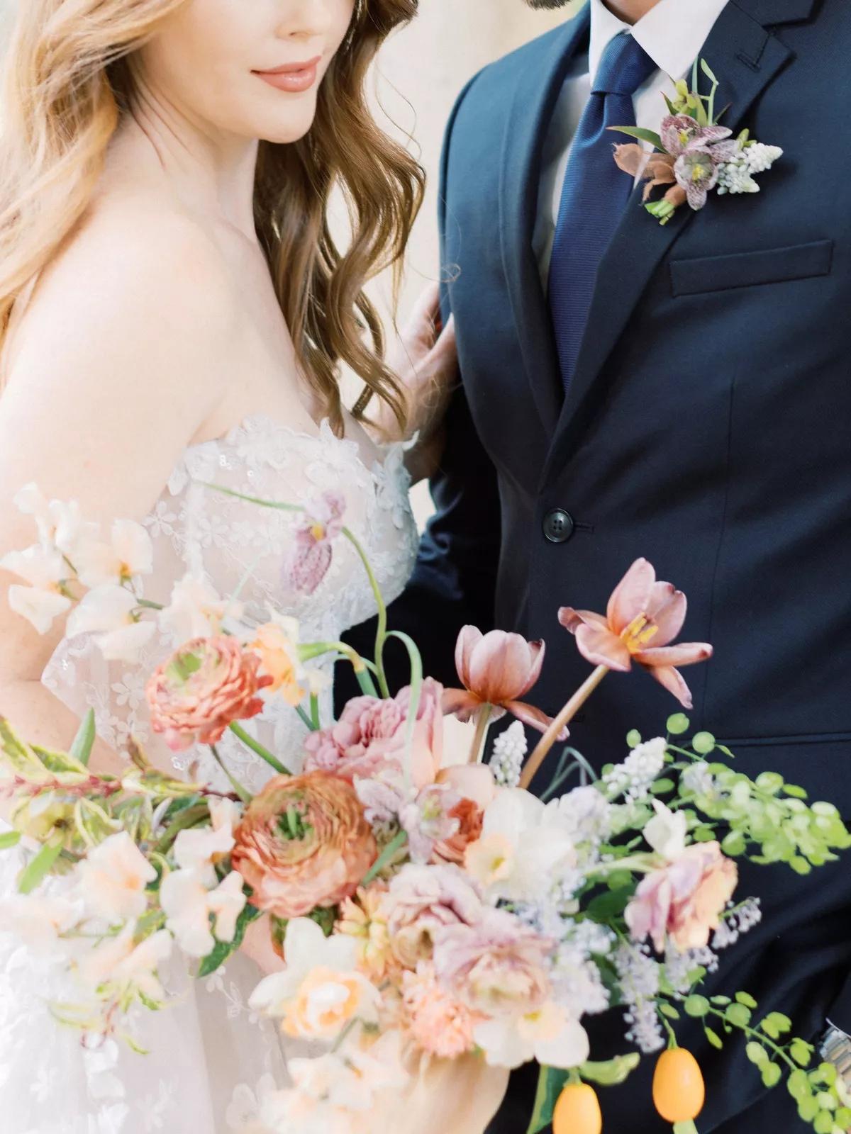 iPZa LF503o - Букет невесты из тюльпанов