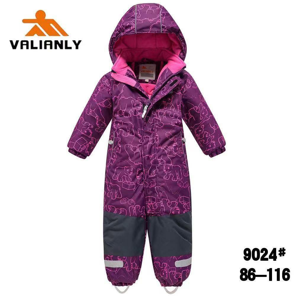 Зимний комбинезон Valianly 9024 фиолет
