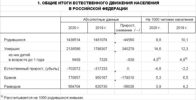 Эпоха вымирания: Росстат сообщил о развале института семьи в России, изображение №2