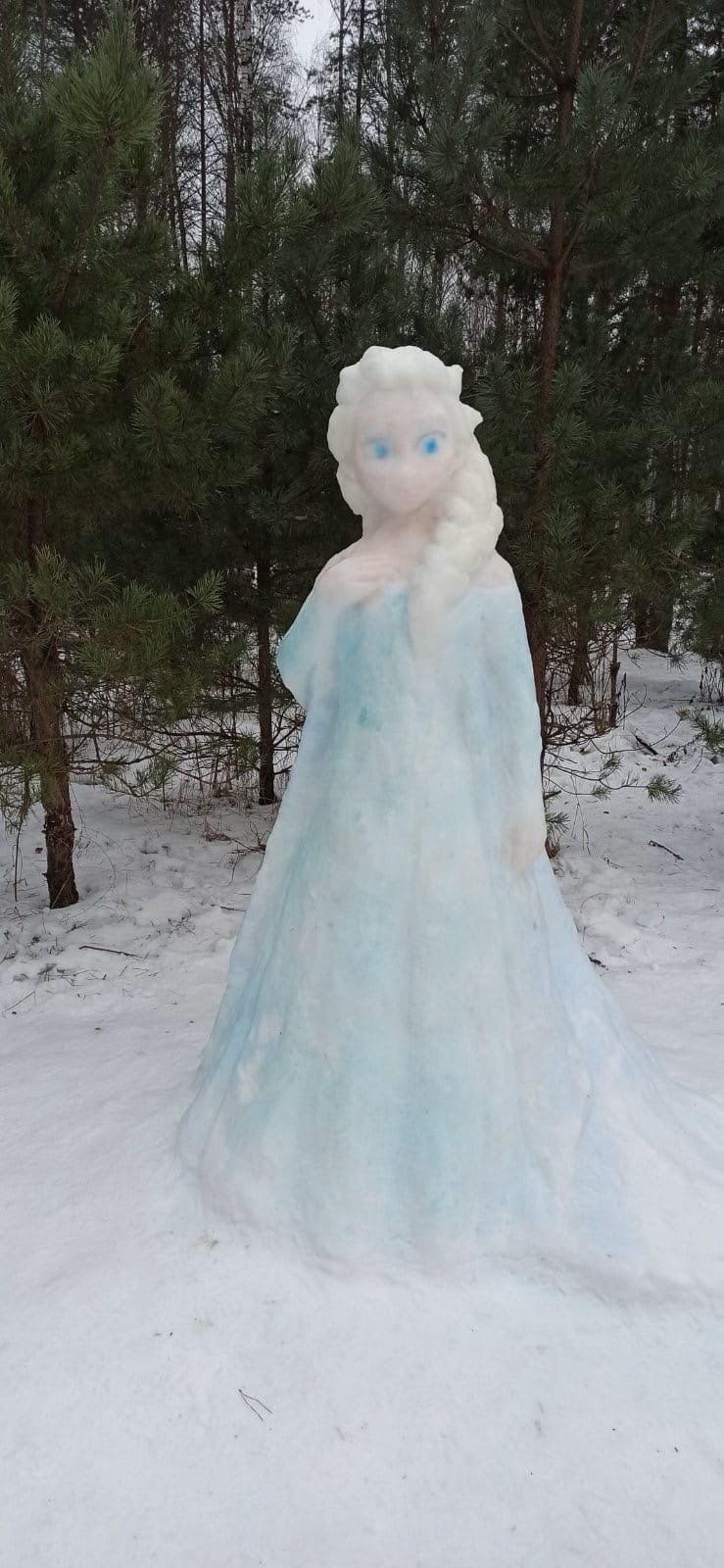 Неизвестный петербуржец сотворил диснеевскую принцессу в одном из парков Северной столицы