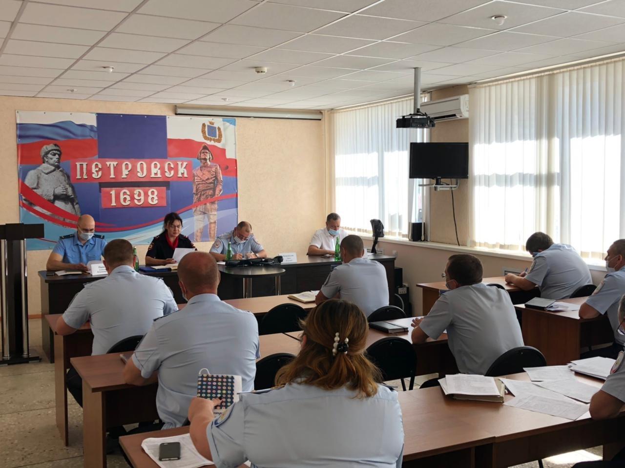 В отделе МВД России по Петровскому району подведены итоги работы за первое полугодие