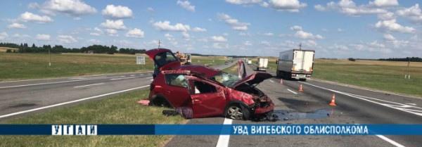 В Толочинском районе в ДТП пострадала водитель