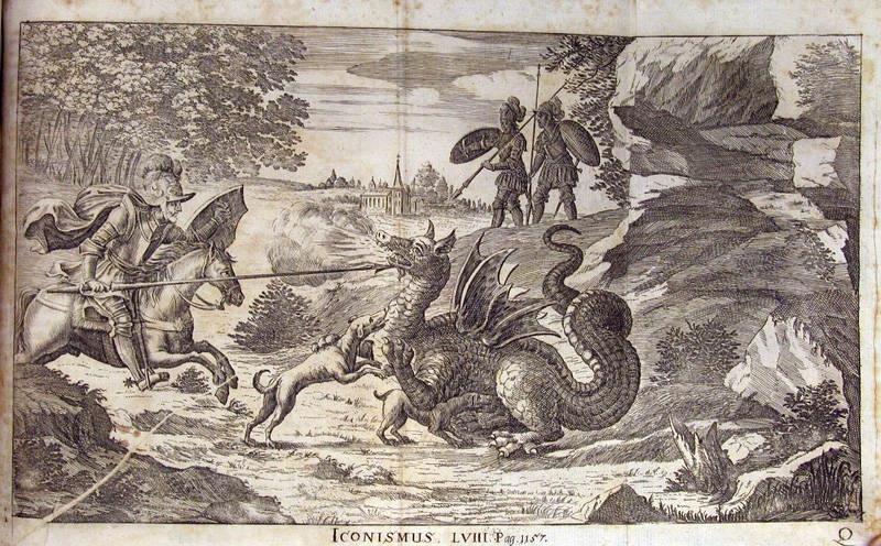 Каспар Шотт, Le combat de Dorde de Gozon contre le Dragon de Rhodes