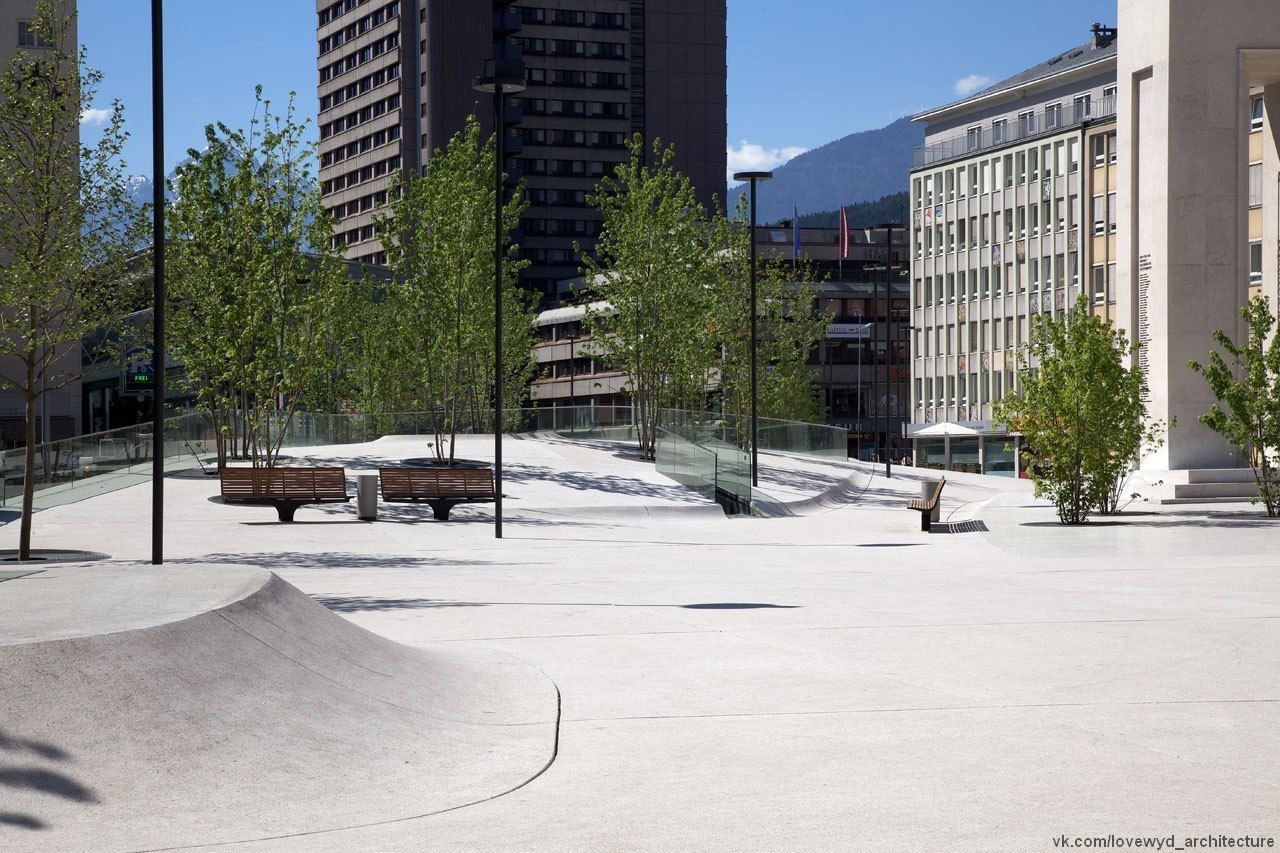 New Design for Eduard-Wallnöfer-Platz Public Square / LAAC Architekten   Stiefel Kramer Architecture