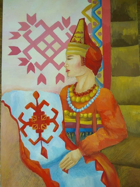 исправен, рисунок мордовские традиции плитка