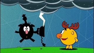 ❗❓Наука для детей - Откуда берутся молнии? Катушка Тесла | Смешарики Пинкод - День Биби
