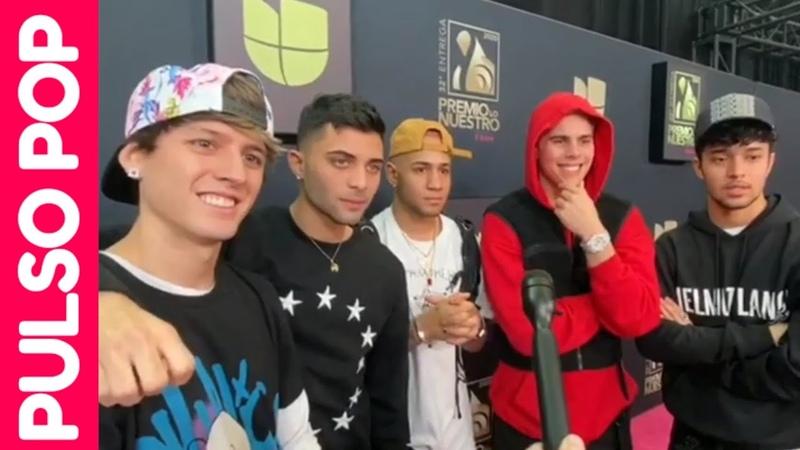CNCO backstage en los ensayos de PREMIO LO NUESTRO 2020 Entrevista