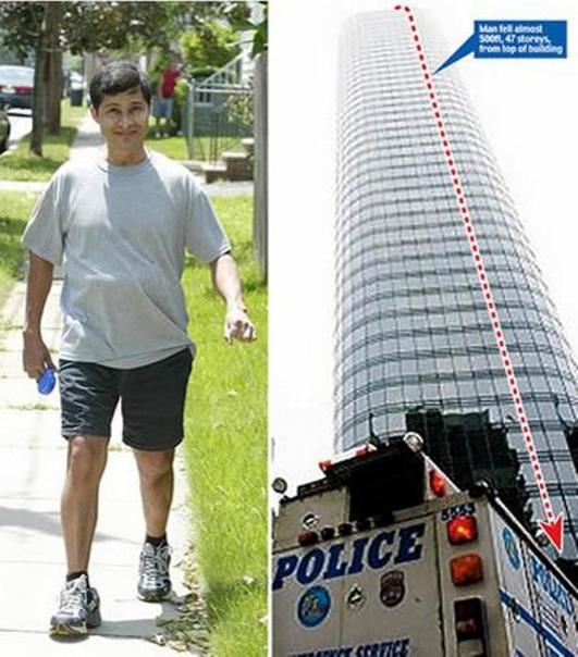Чудесное восстановление после падения с 47-го этажа. Газета New Yor Daily News рассказала о том, что 7 декабря 2007 года братья Алсидес и Эдгар Морено работали на платформе, отмывая окна