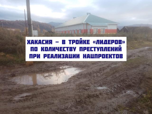 """Хакасия - в тройке """"лидеров"""" по количеству преступлений при реализации нацпроектов"""