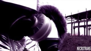 Chernobyl post-apocalyptic walks of Nekro Neko and Nekro Mechanicus in panoramic masks and ski suits