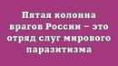 Пятая колонна врагов России – это отряд слуг мирового паразитизма