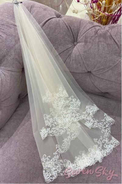 Свадебное белая фата Московская область