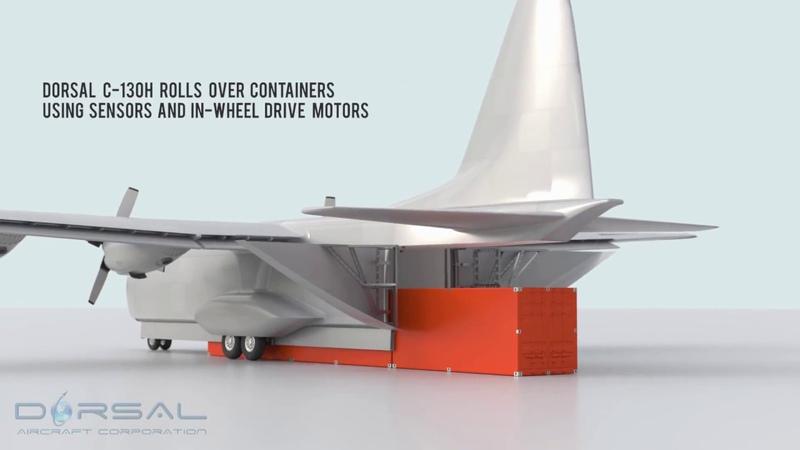 C 130H Hercules Conversion to Dorsal UAV Drone Cargo Aircraft