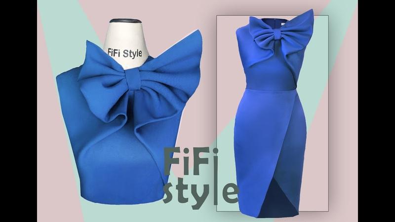 FiFi Style Thiết kế đầm nơ 3D không đường cắt