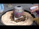 Alcohol Raku Firing of a copper matte glaze with alcohol reduction