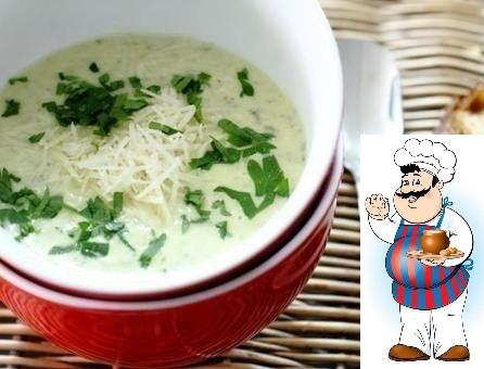 Крем-суп с цуккини и петрушкой