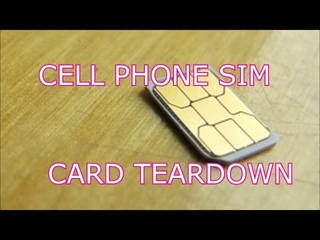 Decap of a Cell Phone SIM card